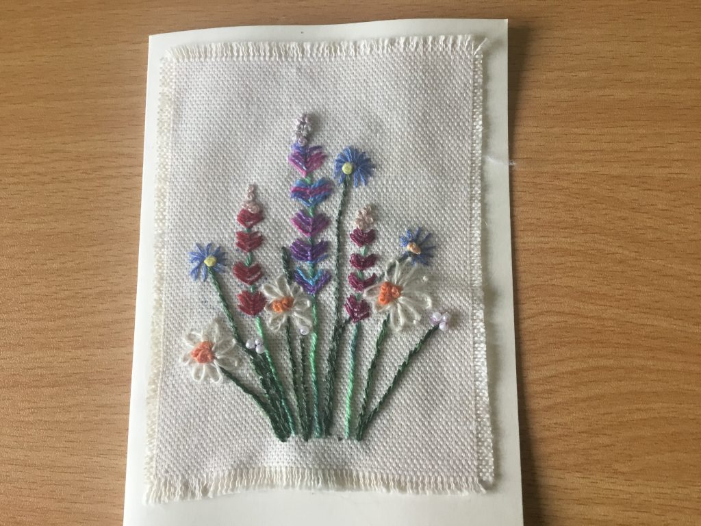 Val Simpson - Flowers 3 - Textiles Greeting Card - £4
