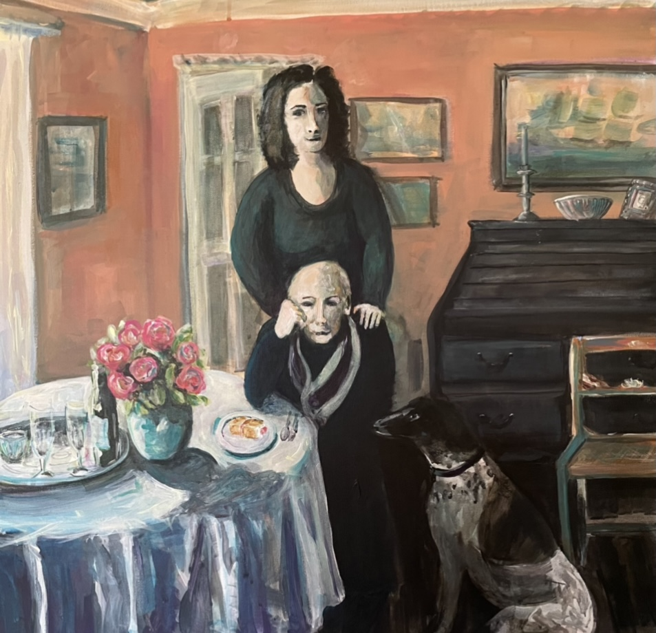 Annie Groom - 'Covid' The Empty Chair - Acrylic on Canvas - 70 x 70 cm - NFS