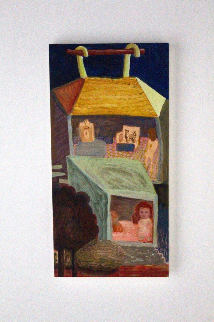 Jackie Berridge - Interior - Acrylic on board- 20 x 40cm - £600