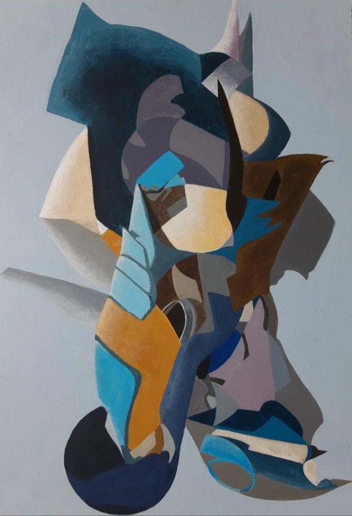 Caroline Clarke -  Braced - Acrylic - 32 x 44.5 cm - NFS