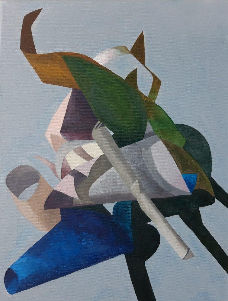 Caroline Clarke - Paper Form -  Oil & Acrylic - 35 x 46 cm - NFS