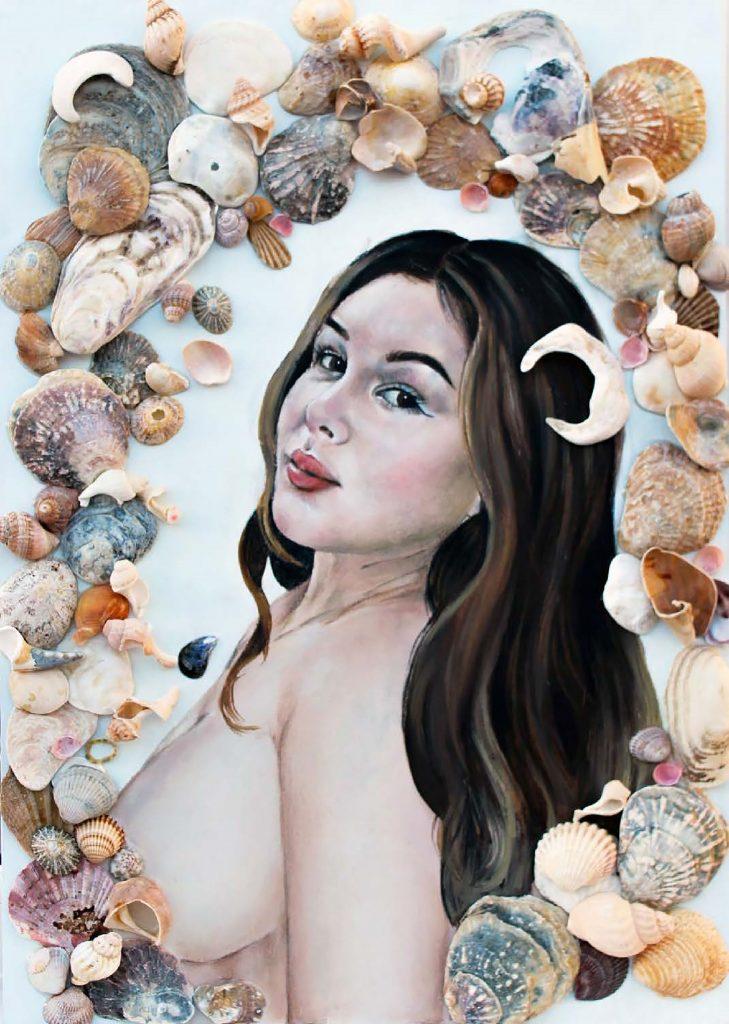 Chloe Hall - Venus - Oil on MDF board - 42.0 x 59.4 cm - NFS