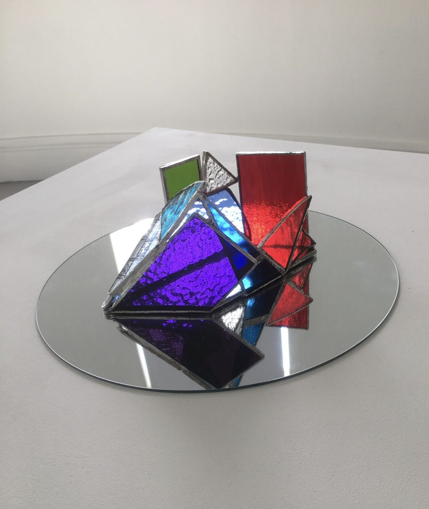 Helen Stevenson - Fractal 2 - Stained glass- 18 x 12 cm - £120