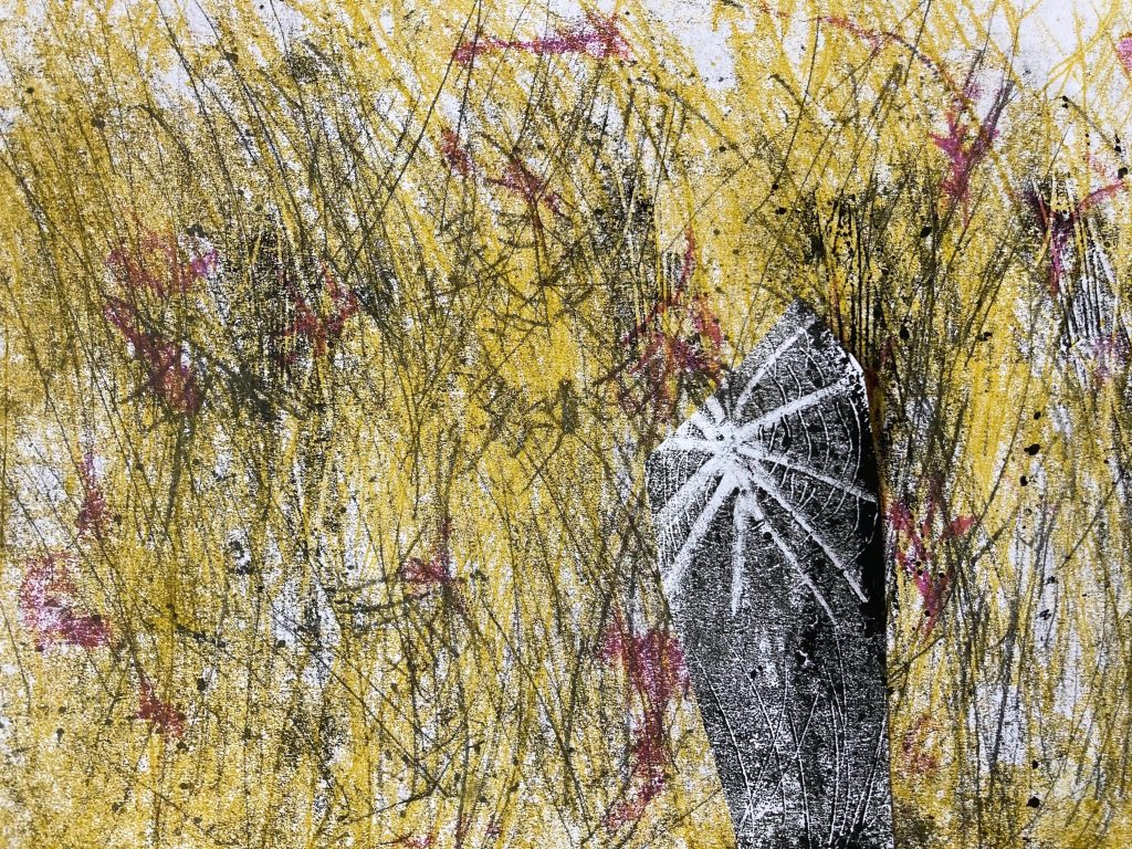 Mary Hayes - Never Give Up - Monotype - 21 x 29.7 cm - £100