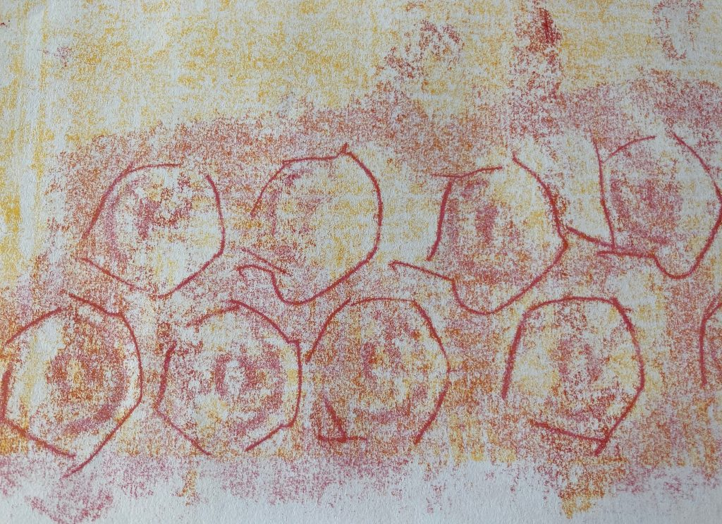 Mary Hayes - Seeds of Hope - Monotype - 14.81 x 21.01 cm - £100