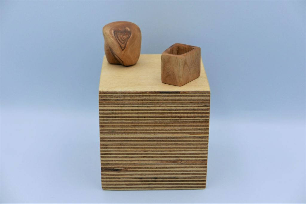 Helen Lees - The Marriage is a Success - The Marriage is a Failure - Olive wood - 2.5 x 2.5 x 2.5 cm - £99 each