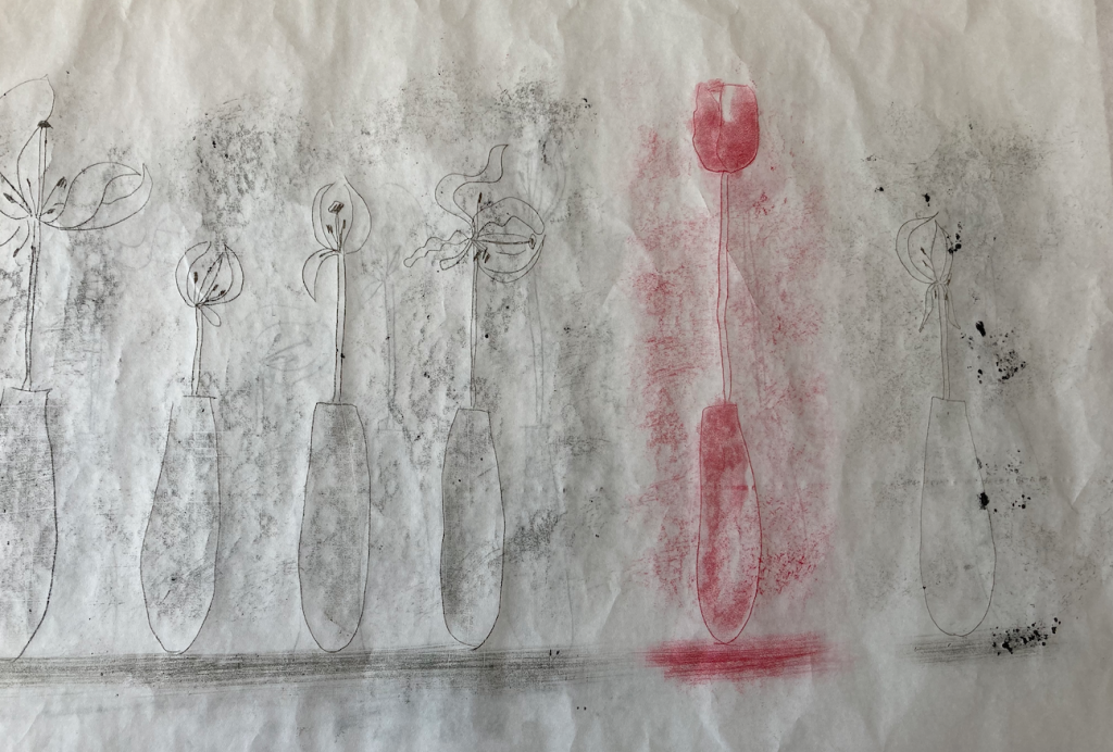 Mary Hayes - The Survivor - Monotype- 69 x 75 cm - £200
