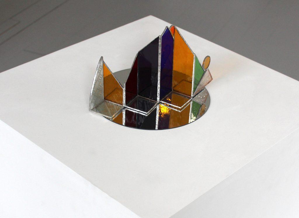 Helen Stevenson - Fractal -Stained glass - 24 x 18 cm (Approx) - £150