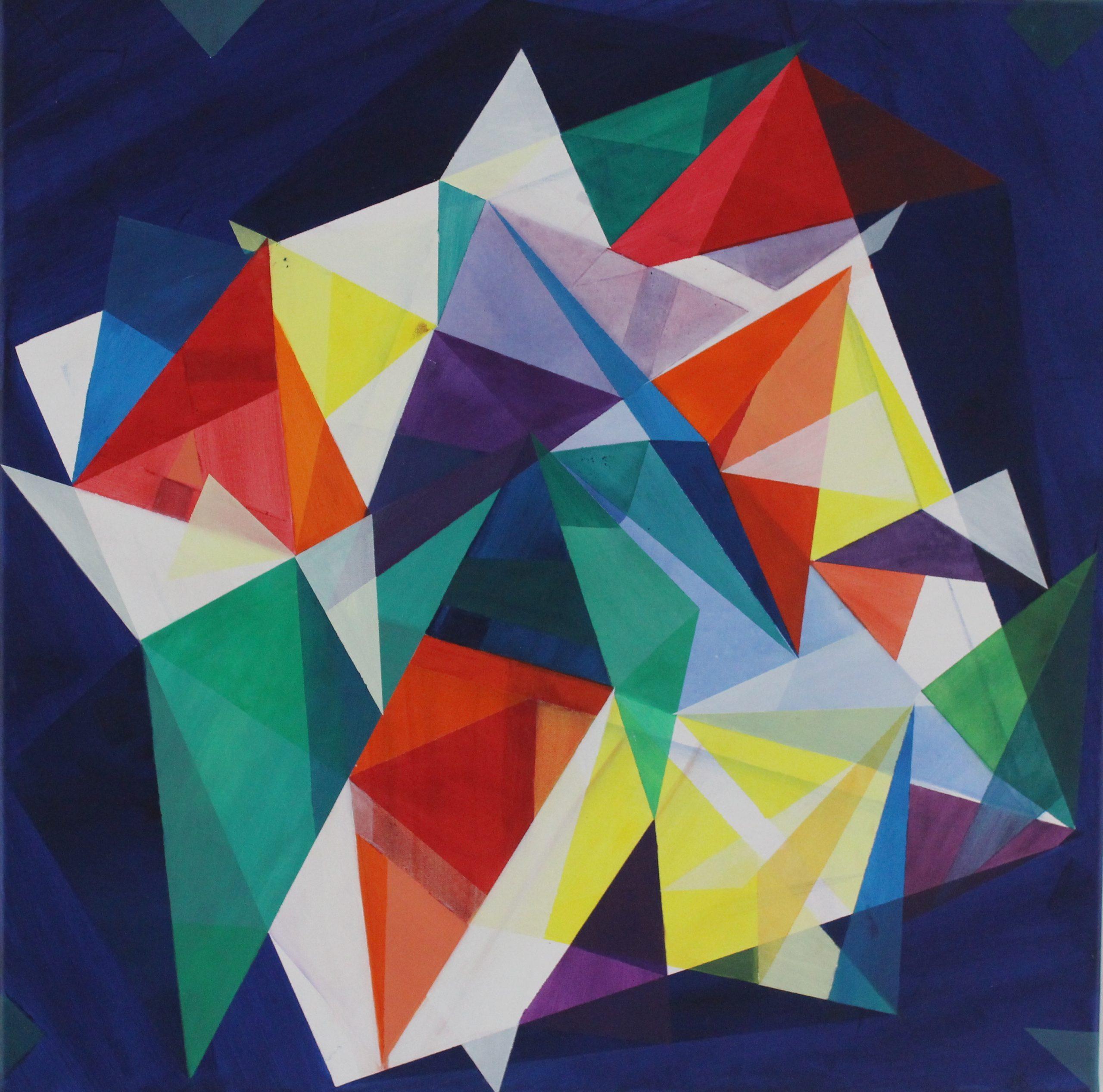 Helen Stevenson - Spectrum- Acrylic on canvas- 80 x 80cm - £300