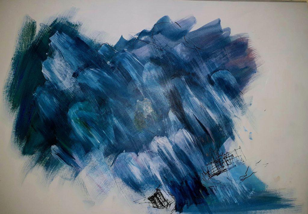 Tyla Abery - A Dream of Nostalgia - Acrylic - 31.5 x 29.7 cm - NFS