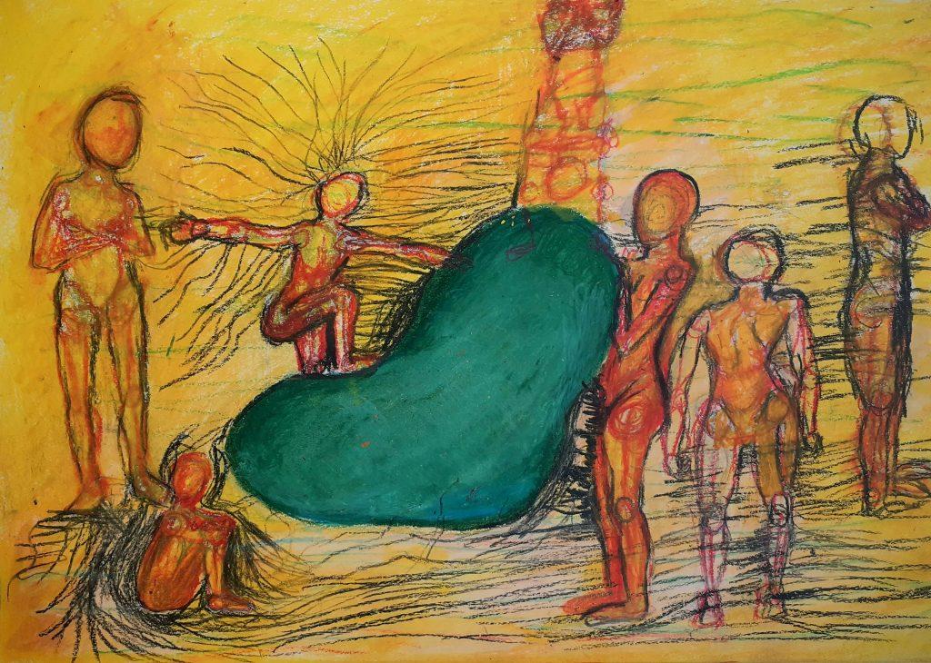 Tyla Abery - Untitled #2 - Oil Pastels - 42 x 29.7 cm - NFS