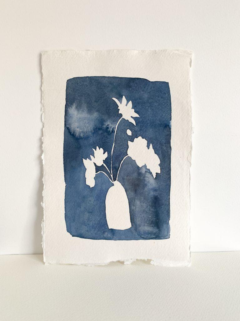 Verity Burton - Adventures into Blue II - Watercolour on paper - 15 x 21 cm - £45