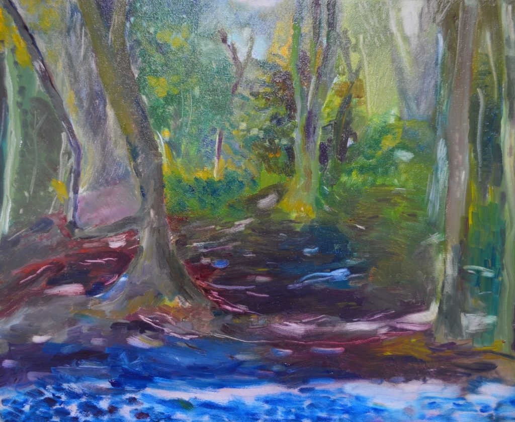 Lisa Banks - Mousehold Heath, Norwich - Oil on canvas - 30 x 40 cm (unframed) - £150 + p&p