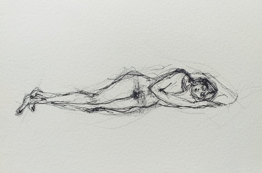 Laura Bodo Lajber - A Rest - Ink on paper - 20 x 17 cm - £150