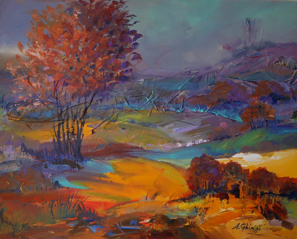 Alexandra Ghimisi - After the storm - Mixed media on canvas - 40 x 50 cm - £450