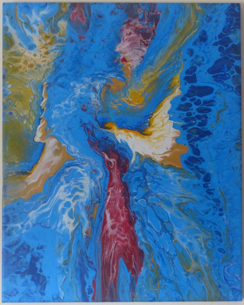 Kim Hall - Angels - Acrylic - 30 x 40 cm - £45
