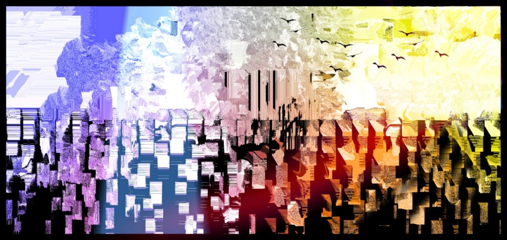 Pybus - Another Day, Another Day - Digital Print- 120 x 60 cm - £150
