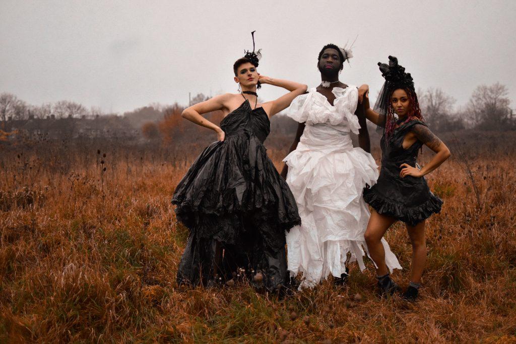 Sian Dorman - Trashion - X3 Dresses and x15 Headpieces - NFS