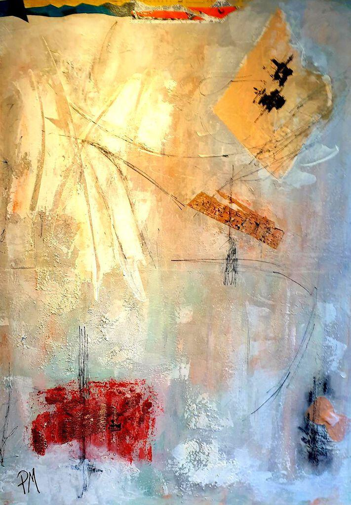 Philip McCumskey - Dancing on Air - Acrylic mixed media on canvas - 70 x 50 cm - £320