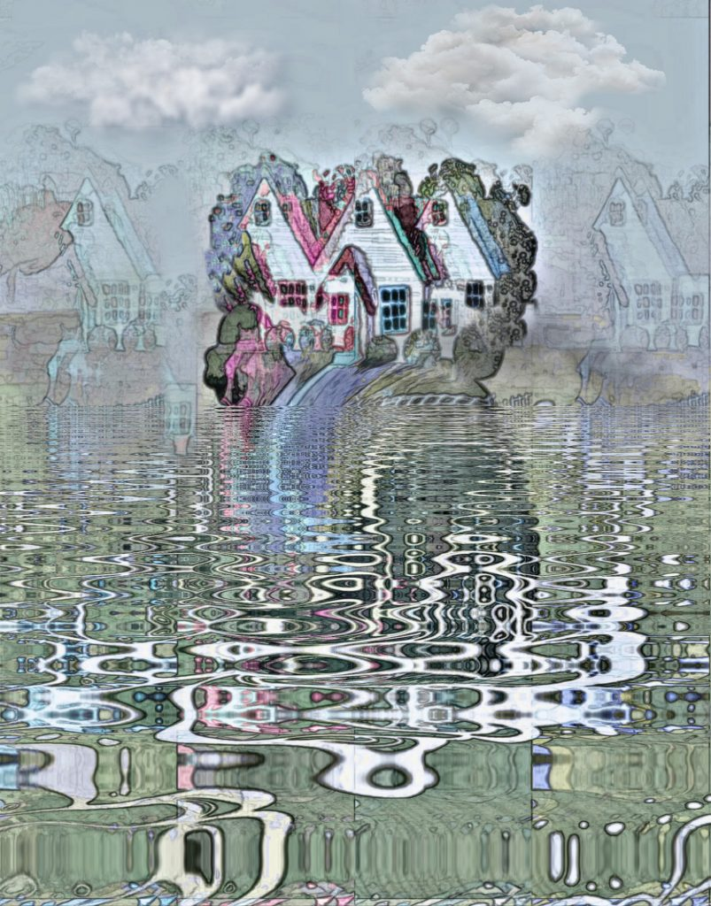 Pybus - Drowning in a Beautiful Place - Digital Print - 120 x 80cm - £210