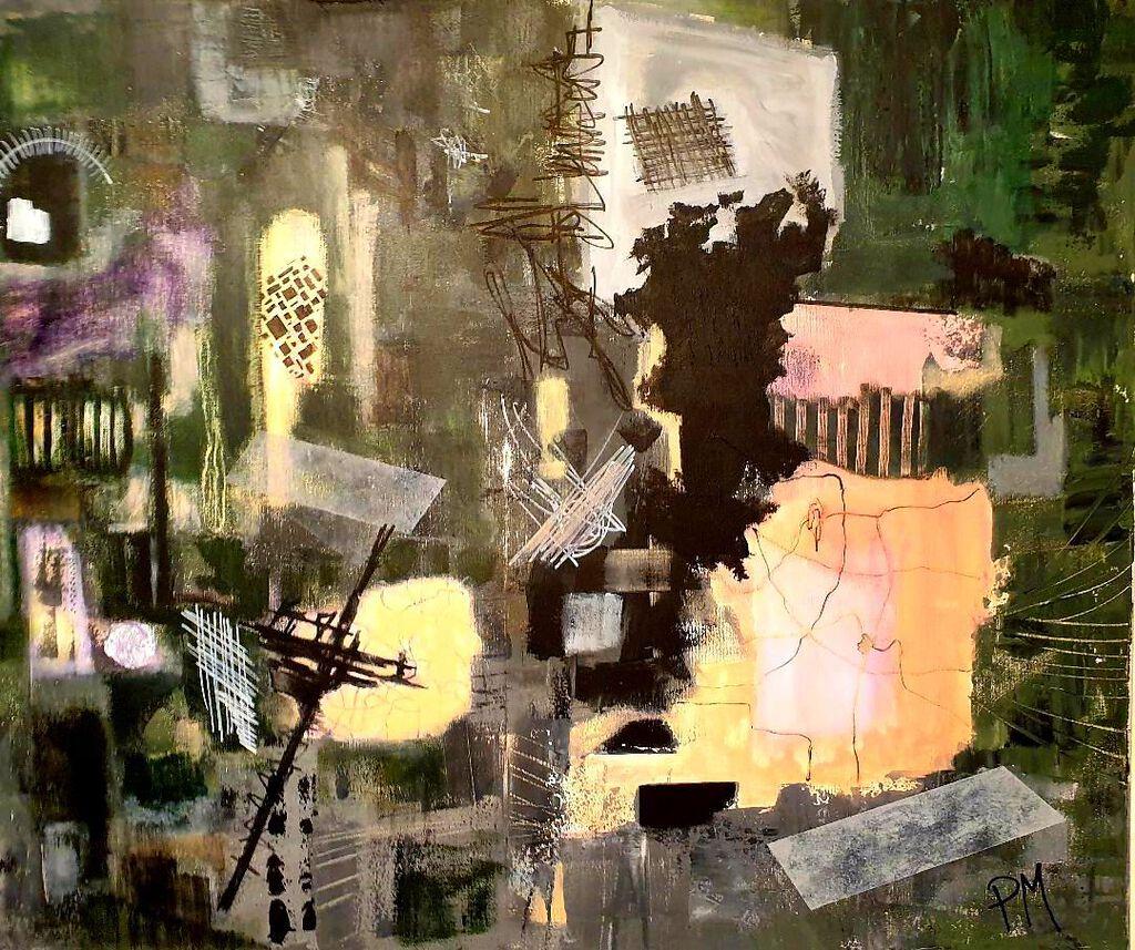 Philip McCumskey - Fall into the Light - Acrylic on canvas - 80 x 80 cm - £420