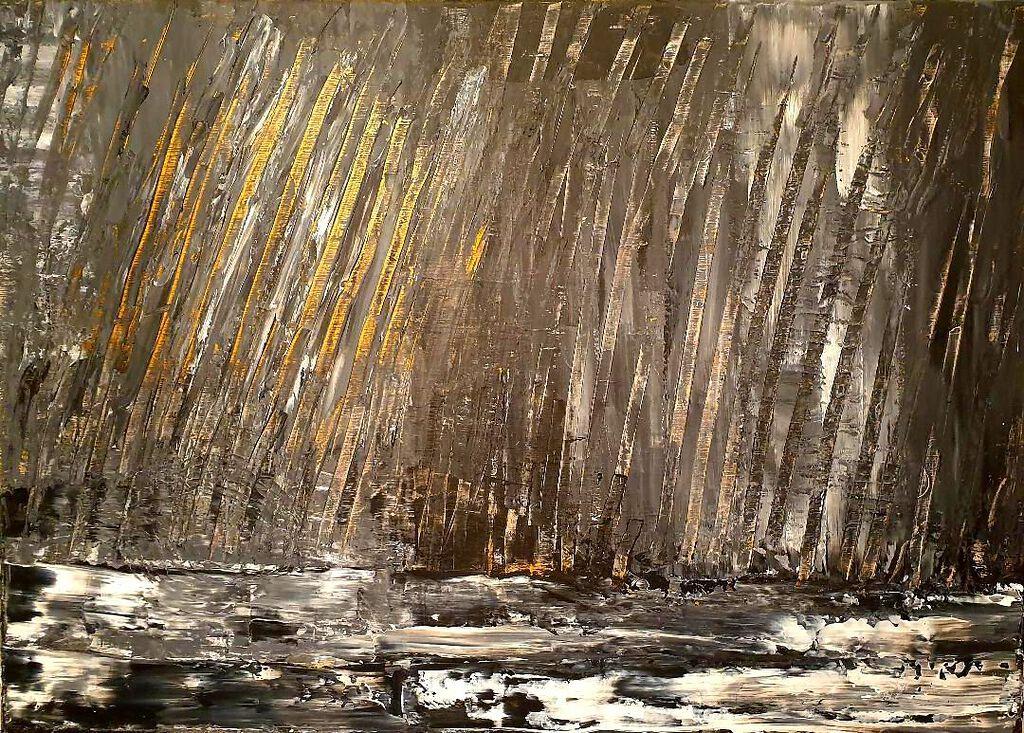 Philip McCumskey - Fast Flows the River - acrylic on canvas - 50 x 70 cm - £350