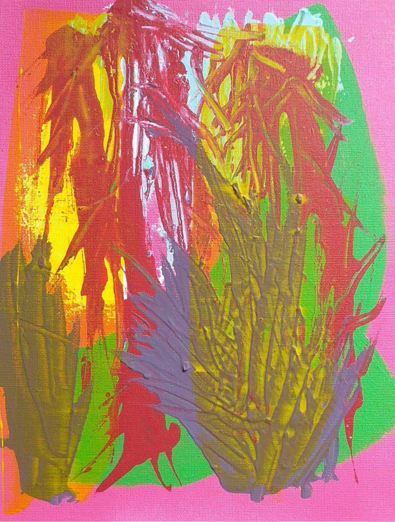 Philip Kane - Gardens of Maldoror - Acrylic - 25.6 x 30 cm - £50