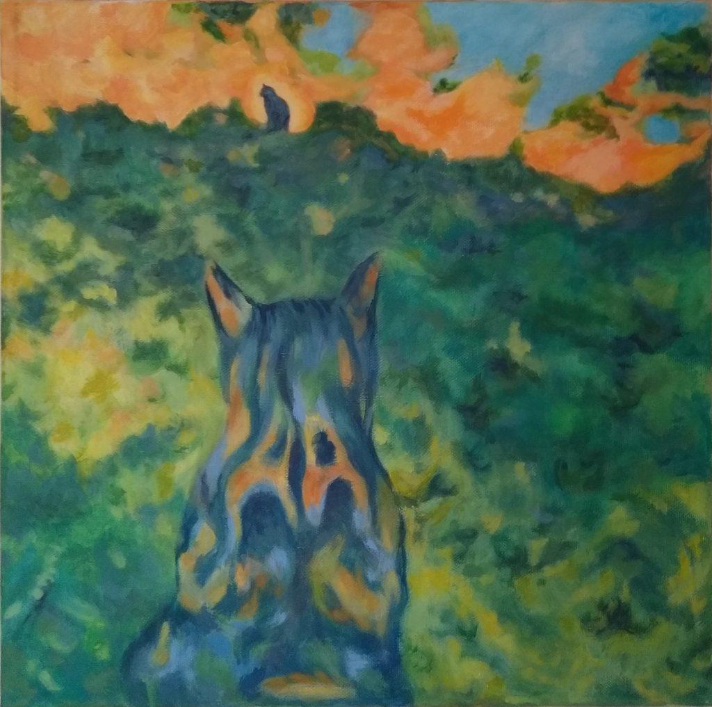 Mel Burridge - Hercules - Acrylic on canvas