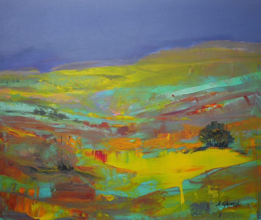 Alexandra Ghimisi - The Imagined Landscape - Acrylic on canvas - 60 x 50 cm - £525
