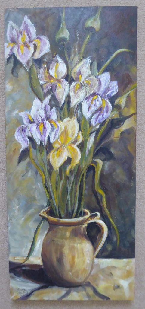Jane Dalton - Iris - Acrylic on deep canvas - 27 x 58 cm - £50