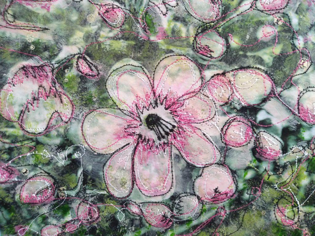 Katrine Cousins - Blossom - Mixed media - Unframed 25 x 19.5 cm / Framed 33 x 27.5 cm - £125