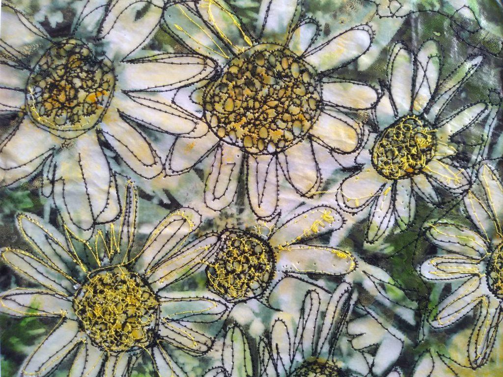 Katrine Cousins - Daisy, Daisy give me your answer do - Mixed media - Unframed 25 x 19.5 cm / Framed 33 x 27.5 cm - £125
