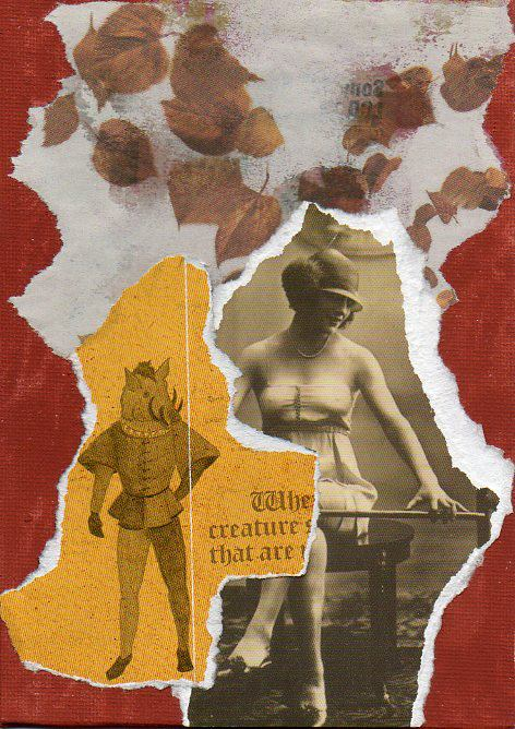Philip Kane - Love Song for Autumn - Collage - 12.7 x 17.7 cm - NFS