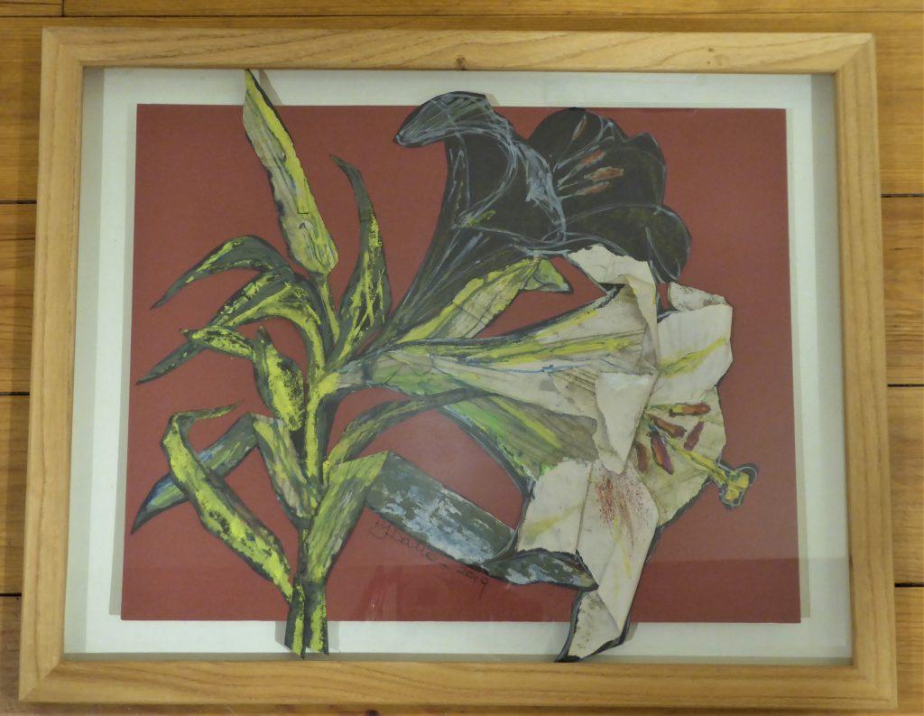 Jane Dalton - Madonna Lily - 3D Collage & sketch - 47 x 38 cm - £60
