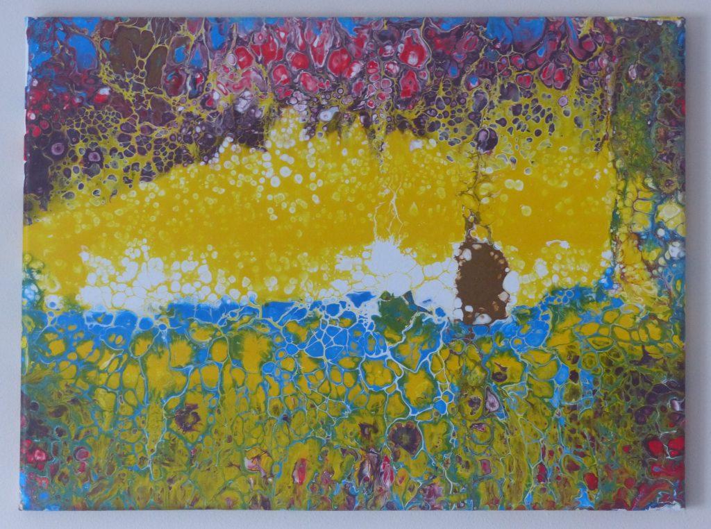 Kim Hall - Meadows - Acrylic - 30 x 40 cm - £45