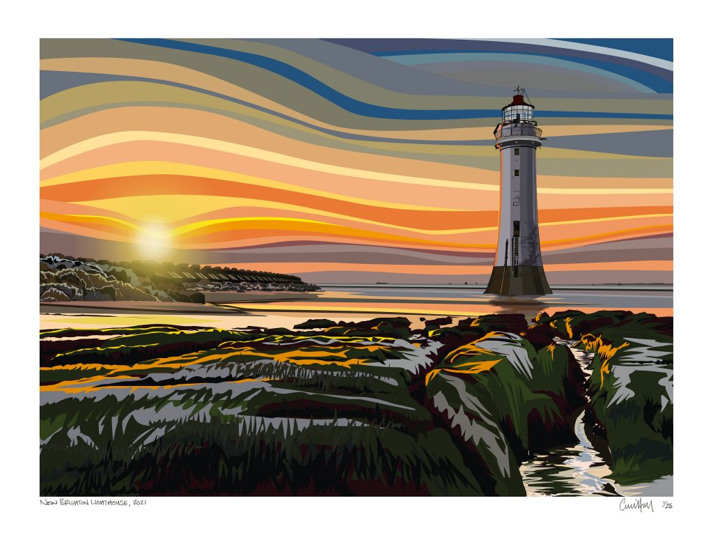 Chris Hall - New Brighton, Wirral - Giclée print on 310 gsm etching paper - Edition of 25 - 700 x 500 mm - £160 unframed or £220 framed