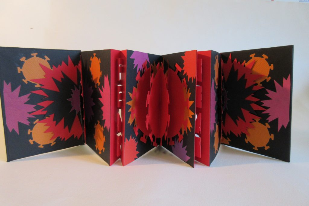 Lizanne van Essen - Pandemic - Artist's Book- 11 x 15.25 cm (closed) - £95