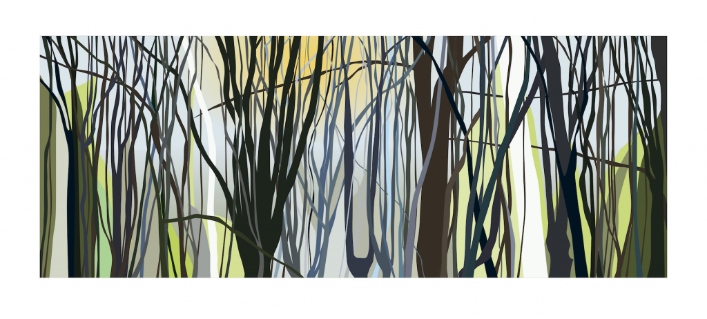 Chris Hall - Sunrise in Epping Forest - Giclée print on 310 gsm etching paper - Edition of 25 - 1200 x 500 mm - £260 unframed or £400 framed