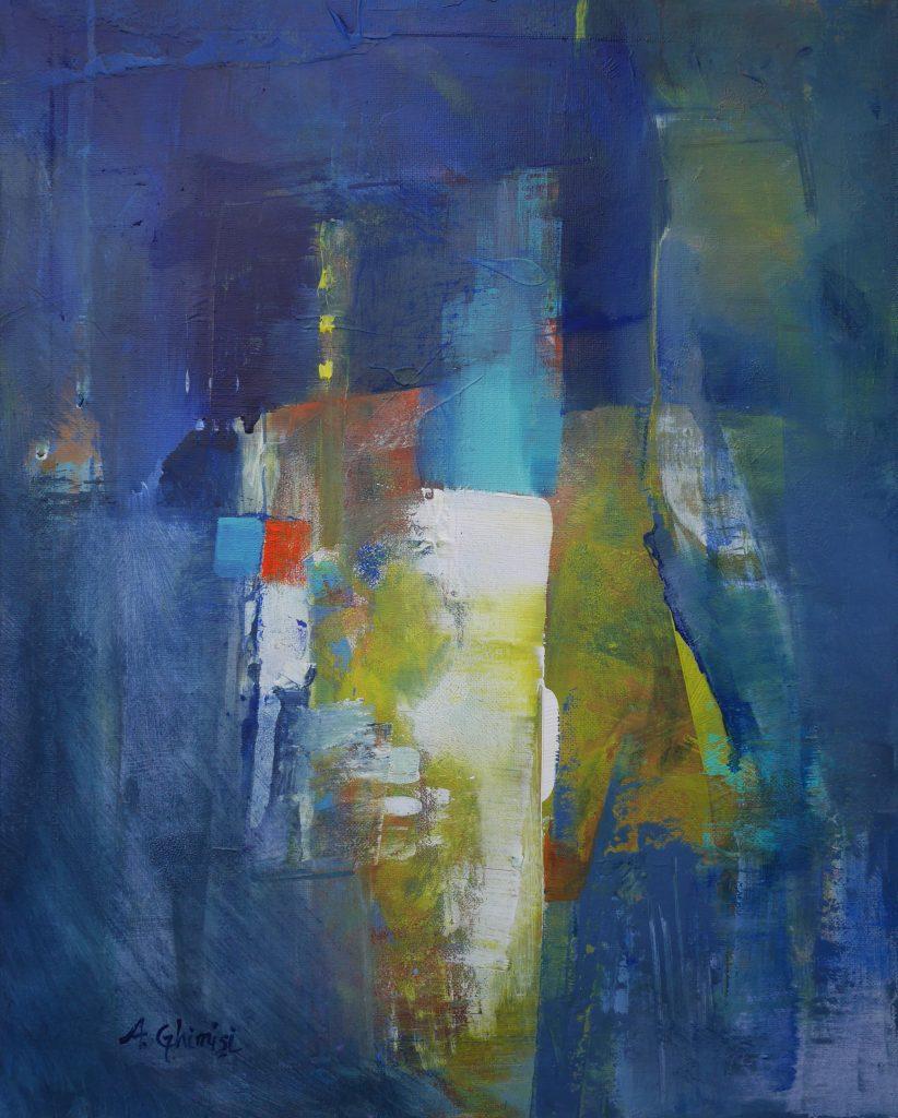 Alexandra Ghimisi - Side by side - Acrylic on canvas - 40 x 50 cm - £450