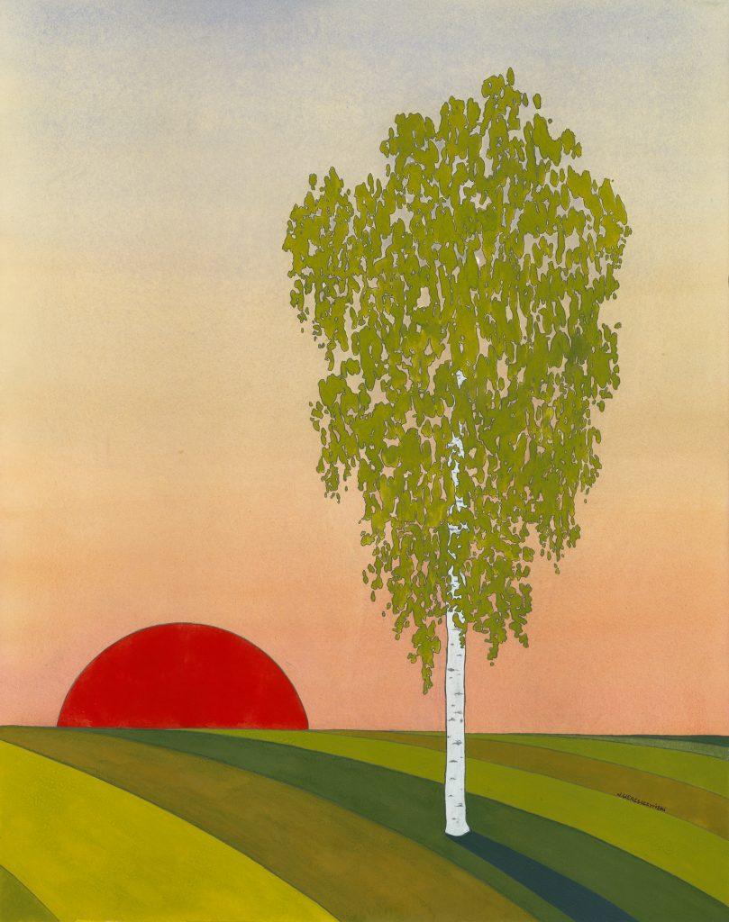 Nick Wereszczynski - Silver Birch - Gouache - 44 x 56 cm - £800