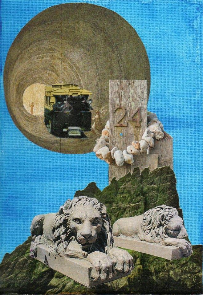Philip Kane - The Holy Mountain - Collage - 12.7 x 17.7 cm - £50