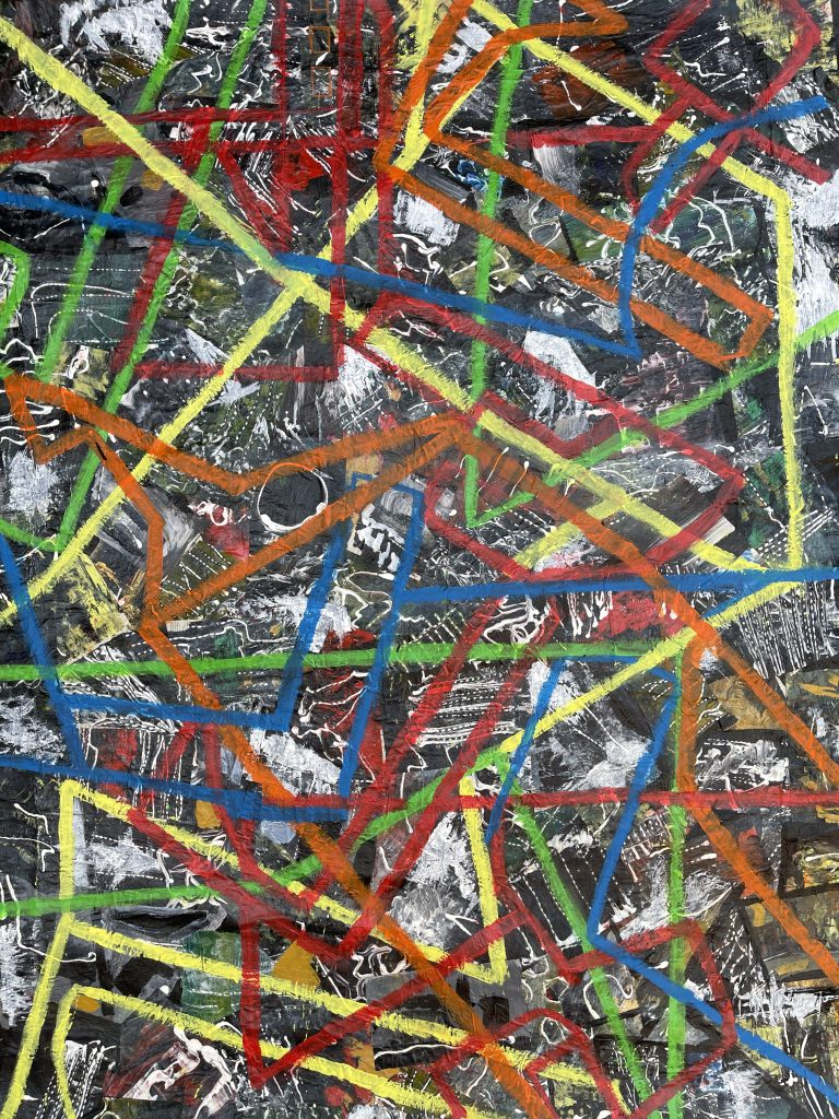 Dianne Augustine - The Zones-restrictions - Mixed media, Acrylics & collage - 103 cm x 142 cm - £1250