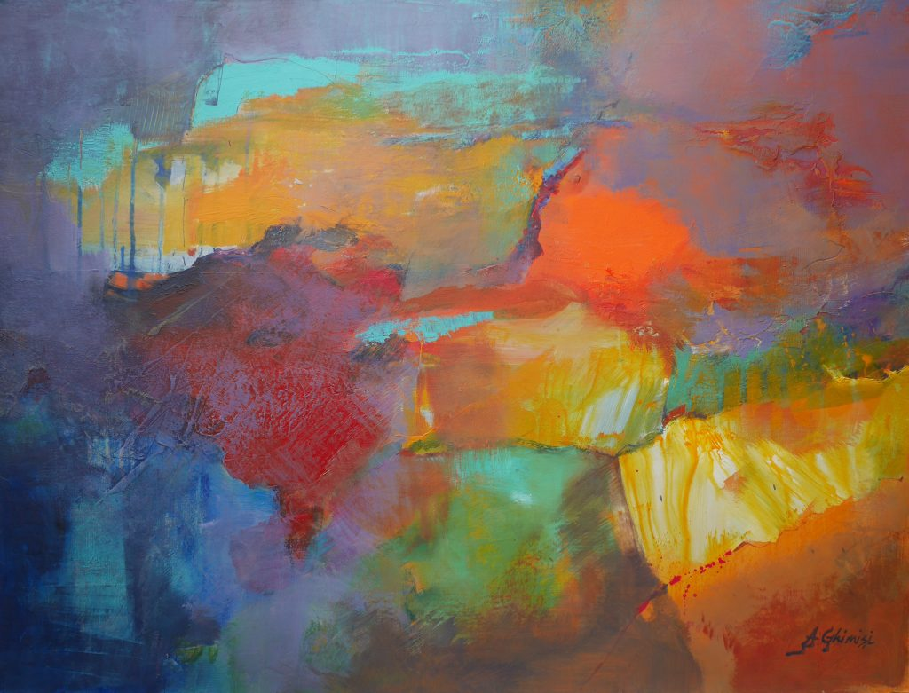 Alexandra Ghimisi - The map of our life - Acrylic on board - 80 x 60 cm - £860