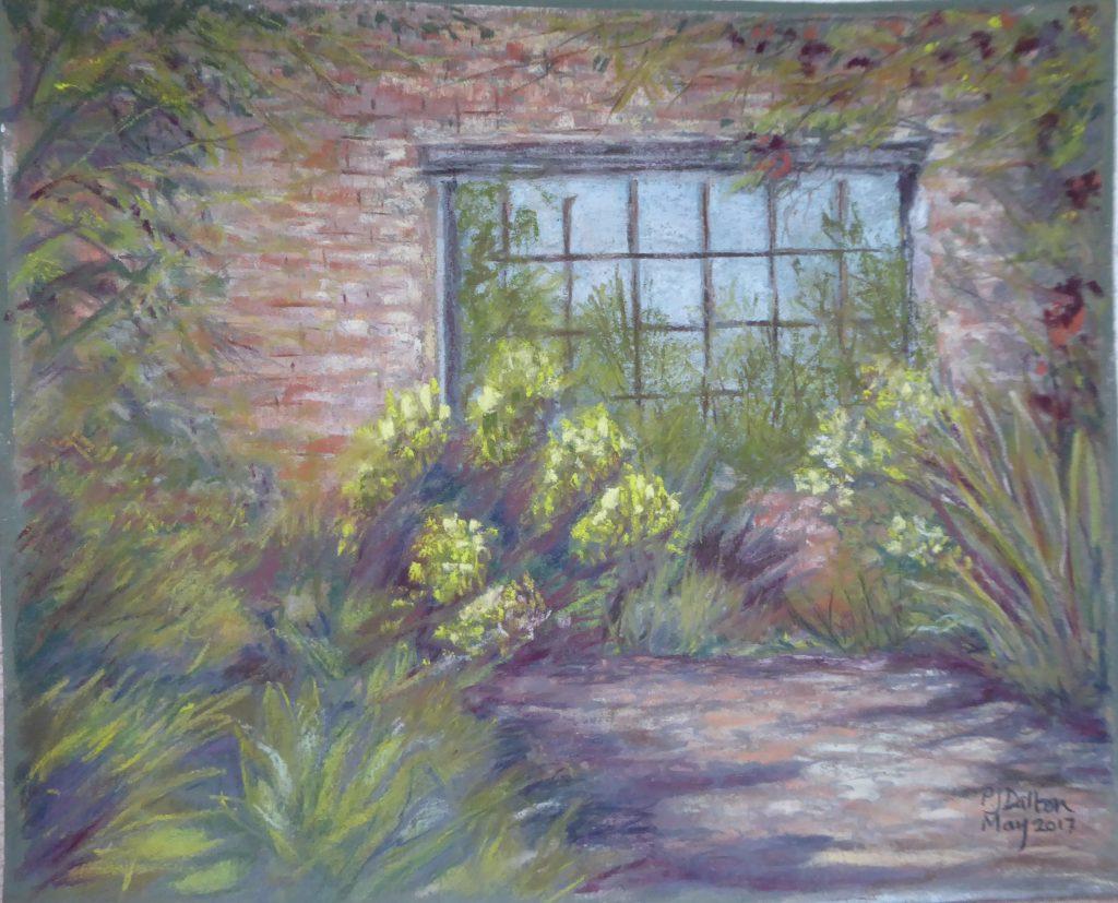 Jane Dalton - Garden Window, Sissinghurst - Pastel - 43 x 38 cm - £70
