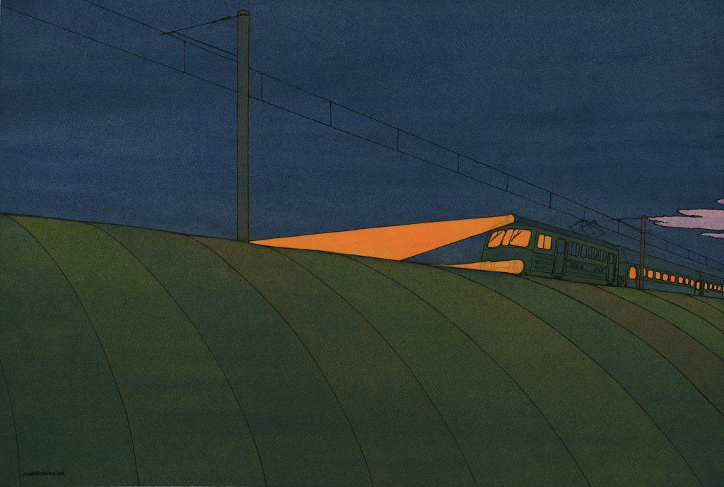 Nick Wereszczynski - Eastward - Gouache - 67 x 45 cm - £680