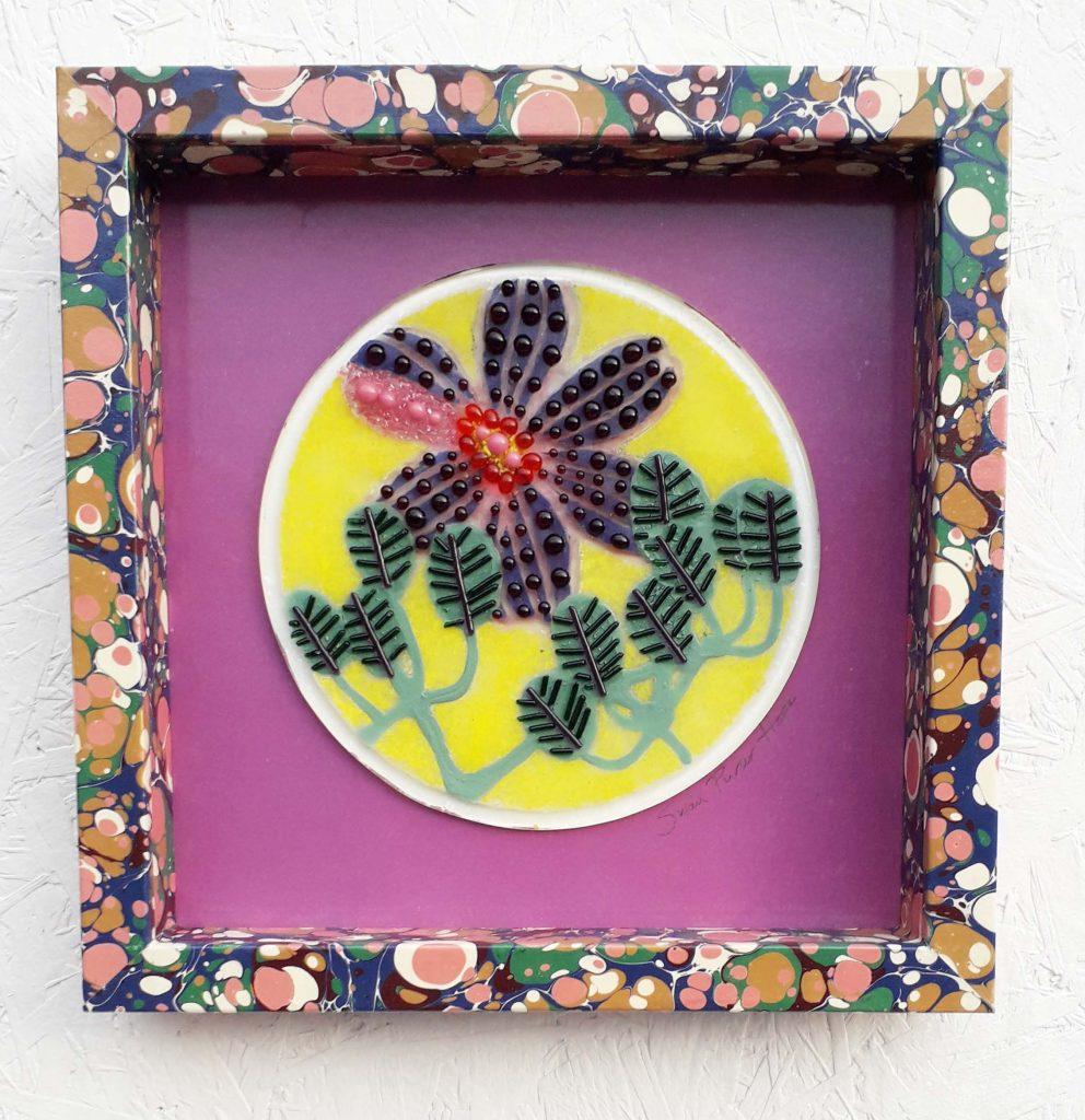 Susan Purser Hope - Purple Petals - Fused glass - 23 x 23 cm - £150