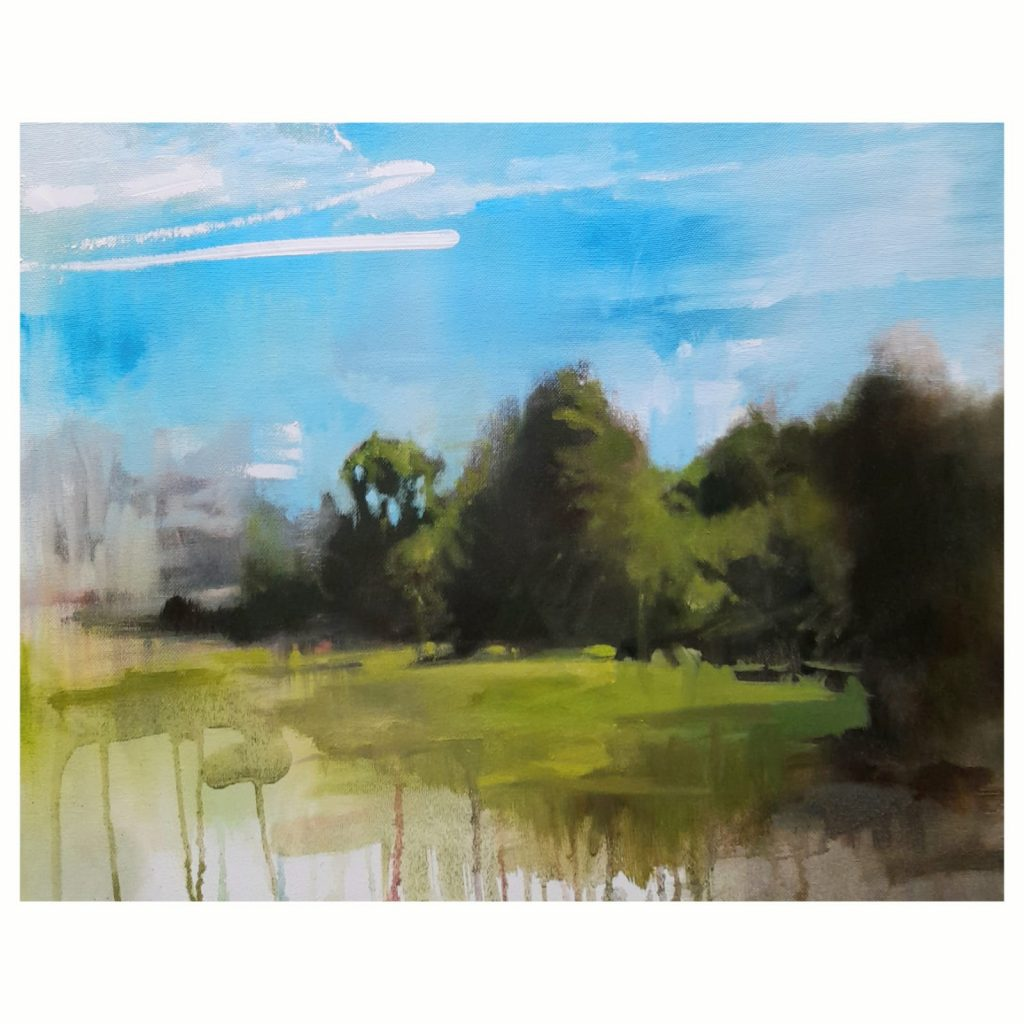 Amy Rogers - Untitled 1, 2021 - Oil on canvas - 40 x 50 cm  - £300