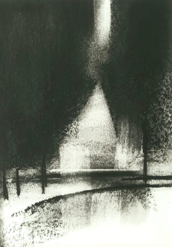 Amy Rogers - Untitled 10, 2021 - Charcoal - 15 x 22 cm - £120