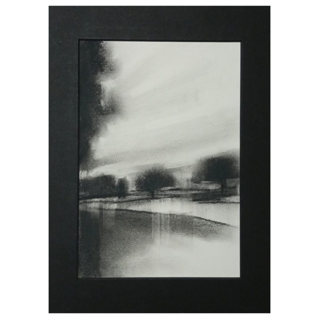 Amy Rogers - Untitled 11, 2021 -  Charcoal - 22.5 x 15.5 cm - £120