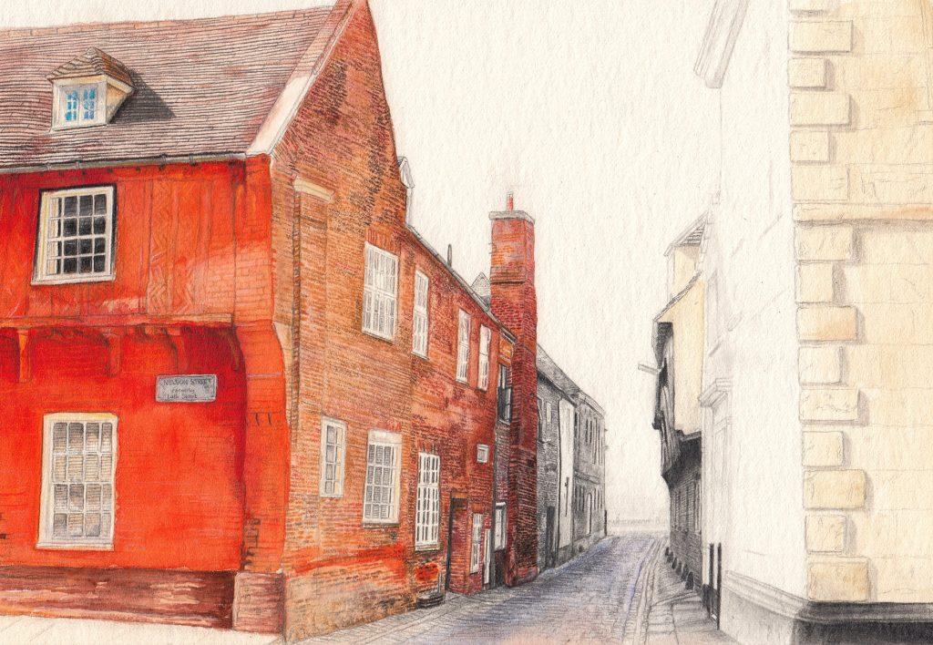 Izzy Wingham - Nelson Street - Watercolour, colour pencil & graphite - 33.5 x 25 cm - £300